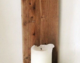 Driftwood & sisal twine hanging candle holder