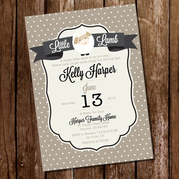 little lamb baby shower invitation lamb baby shower instant