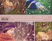 Photo Overlays Spring Petals , Blossom Photo Overlays, INSTANT DOWNLOAD