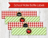 Back to School Water Bottle Wrappers - Instant Download