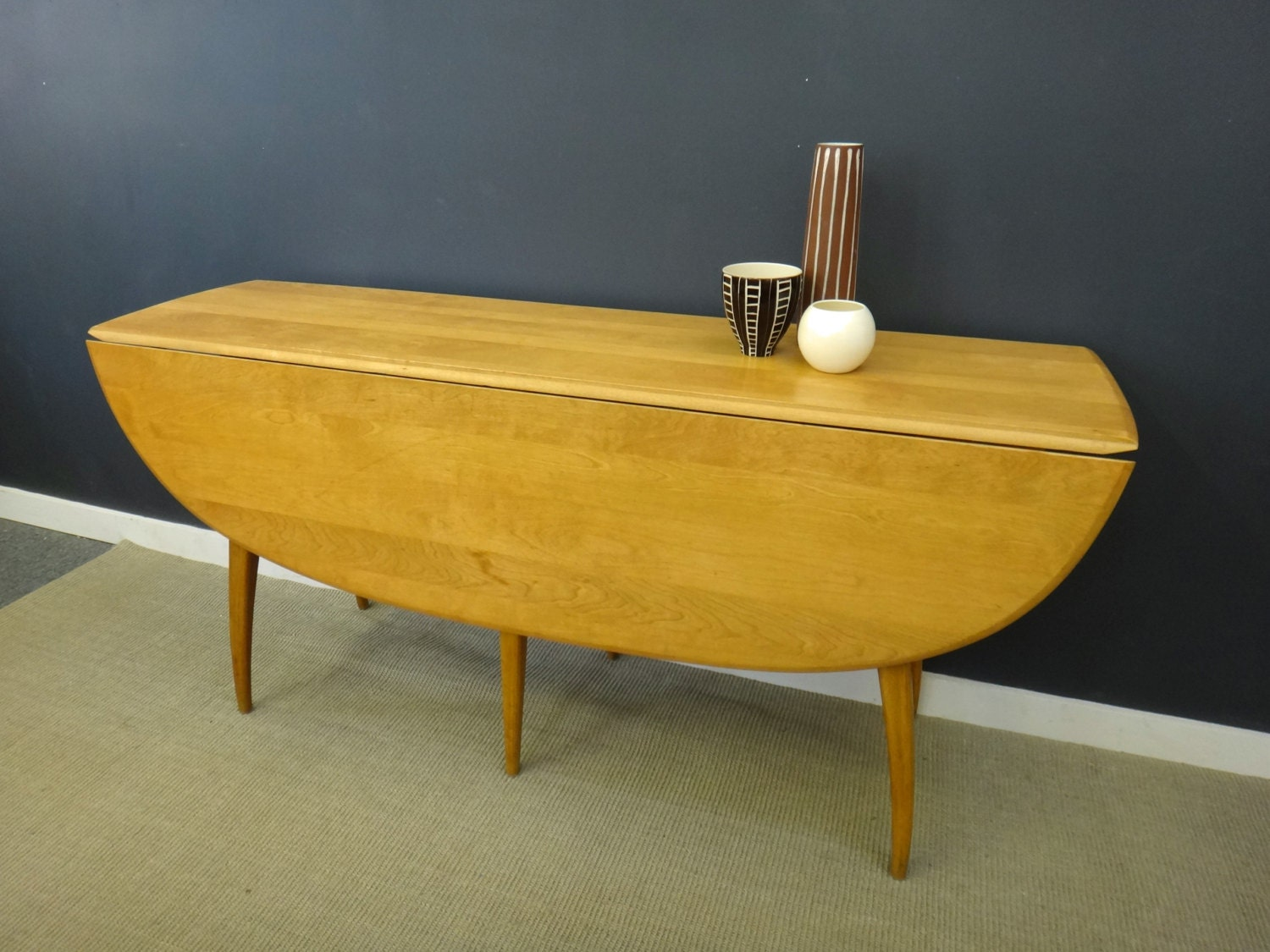 Heywood Wakefield Drop Leaf Dining Table By Retrocraftdesign