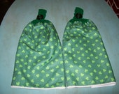 Double Thick Hanging Shamrock Dish Towels