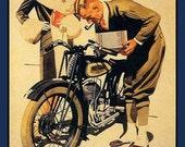 Fridge Magnet - Triumph Motorcycle vintage 1920's ad image