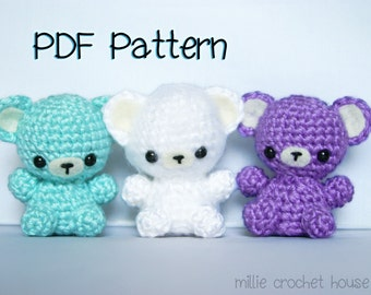 Teeny Tot Bears Crochet Pattern, Amigurumi Bear Pattern, Crochet Tutorial