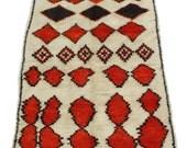 Moroccan Berber Vintage Azilal Carpet
