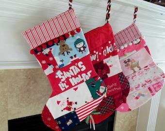 Babys First Christmas Stocking · Christmas Stocking · Upcycled Baby Clothes Stocking · Upcycled Baby Clothes · First Christmas Baby Stocking