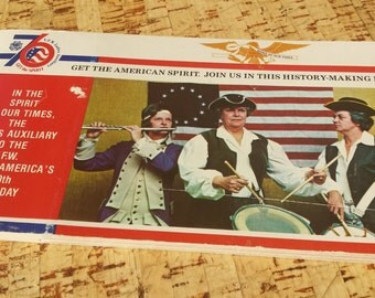 Vintage 1976 Bicentennial Postcard Book Ladies Auxiliary to the V.F.W.
