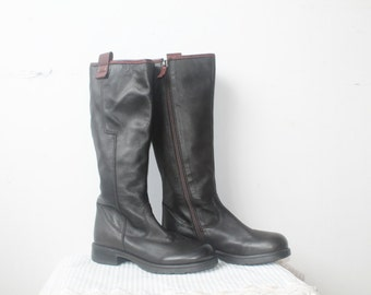 Boots Size 7, Brown Boots, Leather Boots Women, Vintage