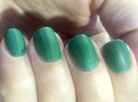 Against All Logic Nail Polish matte green by FanchromaticNails
