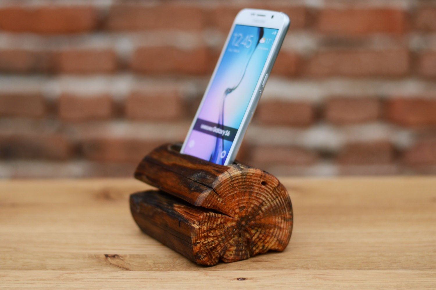 Wooden Phone Stand ~ Wooden phone stand samsung galaxy s dock holder docking