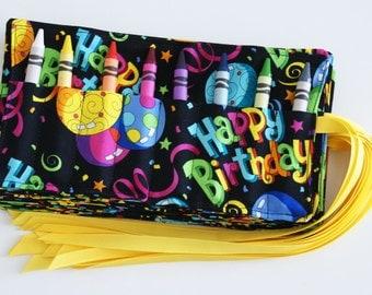 Birthday Crayon Rolls, Set of 5, Party Favor, Gender Neutral