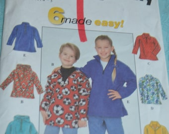 Simplicity 8265 Childs Top  Sewing Pattern - UNCUT -Size 5 6 7 8