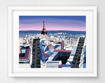 PRINT - Title: Petals - Paris, France by Nicole Werner Stevens