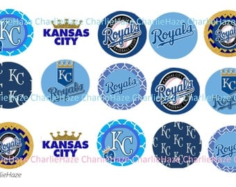 Royals Baseball, MLB , bci,  bottle cap image , 1 inch image,