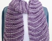 Purple knitting scarf, hand knitted scarf, UK shop