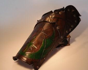 steampunk leather bracer, star wars jedi  (made to order)
