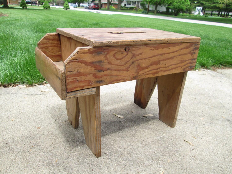 Primitive Wood Bench Whittler Bench Gardening Seat By Girlpickers