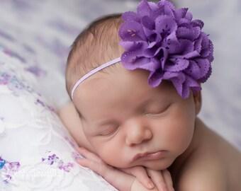 FREE SHIPPING! Purple Flower Headbands, Purple Headbands, Baby Girl Headbands, Toddler Headbands, Infant Headbands, Baby Bow