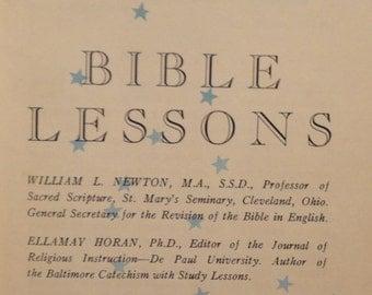 The Kingdom God Series, Bible Lessons, Newton Horan, vintage orange 1940's vintage Book