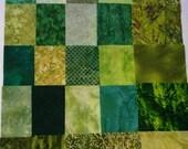 FABRIC Green  CHARM PACK 25  100 percent  cotton 5'Precut  Quilt  Shop Quality Fabric  No Duplicates
