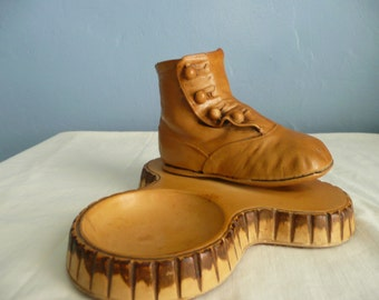 Old Fashion Child's Shoe With Trinket Tray