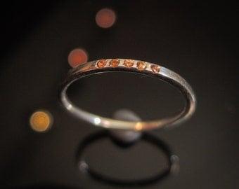Dainty Sapphire Ring Orange Sapphire Ring Silver Sapphire Ring Sapphire Stacking Ring Birthstone Rings Sapphire Gold Rings