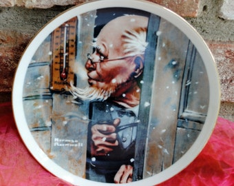 Vintage Magician Plate - Norman Rockwell - Fine Porcelain - Fabulous!
