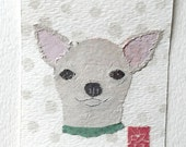 Original Art, Chihuahua Art, Original ACEO, Mini Art, Chihuahua Gift