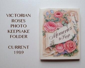 VINTAGE Photo Keepsake Folder Victorian Roses by Current 1989