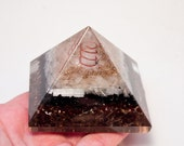 Holiday Sale! ORGONE BLACK TOURMALINE, Selenite, Lemurian Crystal Quartz Point, Rose Quartz, Gold Leaf Pyramid! Wow!