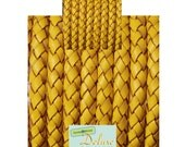 DL06102 - 0,40 meter x 6,00mm Braided Leather Cord
