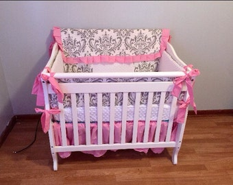 Custom Mini Crib 4 Piece Bedding Set