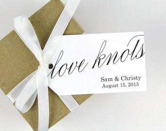 Love Knots - Wedding Favor Tag - Pretzel Favors - Wedding Favors - Wedding Favor Ideas - Custom Wedding Tags - Party Favor Tags - MEDIUM