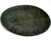 Lace Platter, Serving Dish, Metallic Decor, Blue Copper Plate, Serving Platter, Dessert Tray, Kitchen Platter, Elegant Dining, Hostess Gift