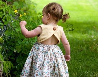 PDF Pattern NB-6 Chloe Dress and Maxi/Open Back Girls Dress Pattern/Girls Sundress Pattern/Girls Dress PDF Pattern/Baby Girls Dress Pattern