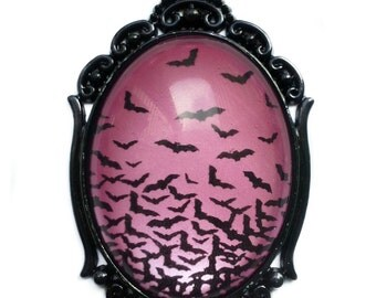 Flying Bats Necklace - Rose