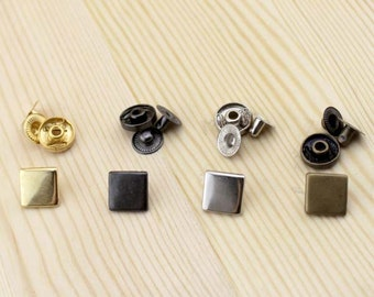 12mm Square Copper Snap Fastener Copper Snap Button 0404-023 20sets