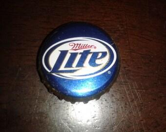 100 Miller Lite Twist-Off Beer Bottle Caps