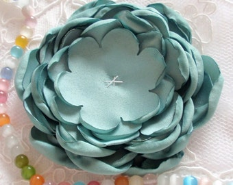 Larger Singed Flower Singed Rose Satin Flower Satin Rose (3-1/4 inches) MY-354-08 Ready To Ship