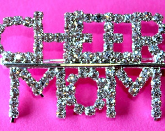 Bling Rhinestone CHEER MOM Pin