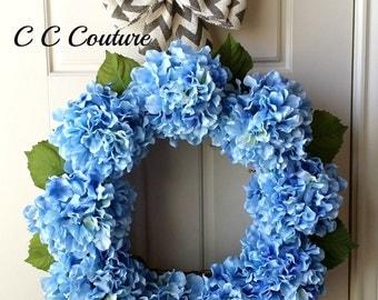 Hydrangea Wreath,Summer Wreath,Flower Wreath,Wreath for Door,Home Decoration,Front Door Wreath,Mother's Day Gift,Year Around Wreath,Wreath