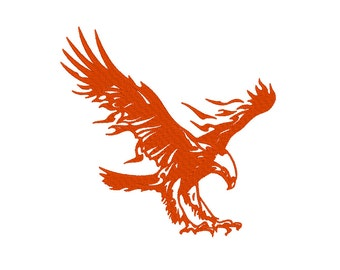 Flaming Eagle Embroidery Machine Design