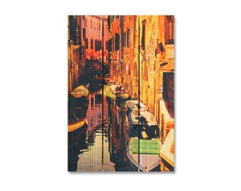 16x24 Canal Street Italy, Colorful Wall Art, Inside or Outside Wall Hanging, Home Decor (CST1624)