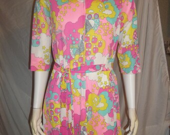 Vintage 1960s Evelyn Pearson mcm groovy wild hippie sheer dress