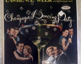 "Lawrence Welk ""Champagne Dancing Party"" vinyl LP Coral CRL-57226 Ballroom Dancing"