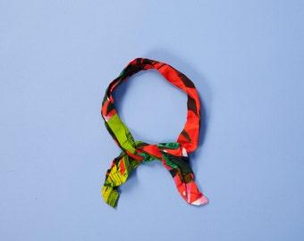 Tropical printed head band