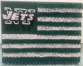 NFL NY Jets American Flag String Art