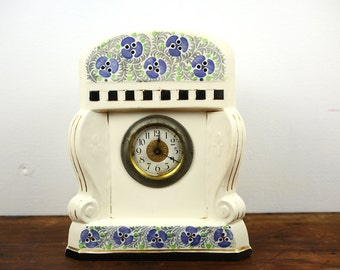 Mantle Clock Porcelain, Germany