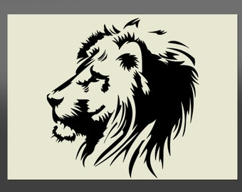 Lion Head Stencil - Various Sizes -Made From High Quality Mylar
