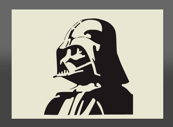 Dark vador star wars style pochoir diff rentes tailles de - Dessin de dark vador ...